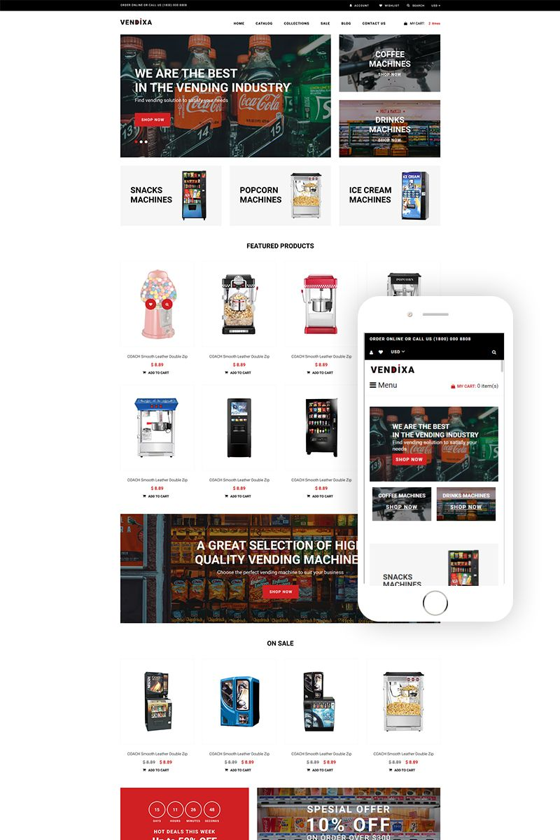 Vendixia Vending Machines Clean Shopify Theme 77801