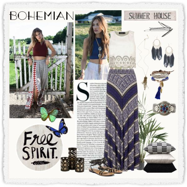 BOHEMIAN by dolphie on Polyvore featuring MINKPINK, Monsoon, Sole Society, Wet Seal, M. Cohen, Pottery Barn, Free People, SCARLETT, Bodas and boho
