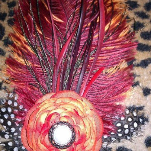 Orange Orange fascinator Halloween Halloween by msformaldehyde, $22.50