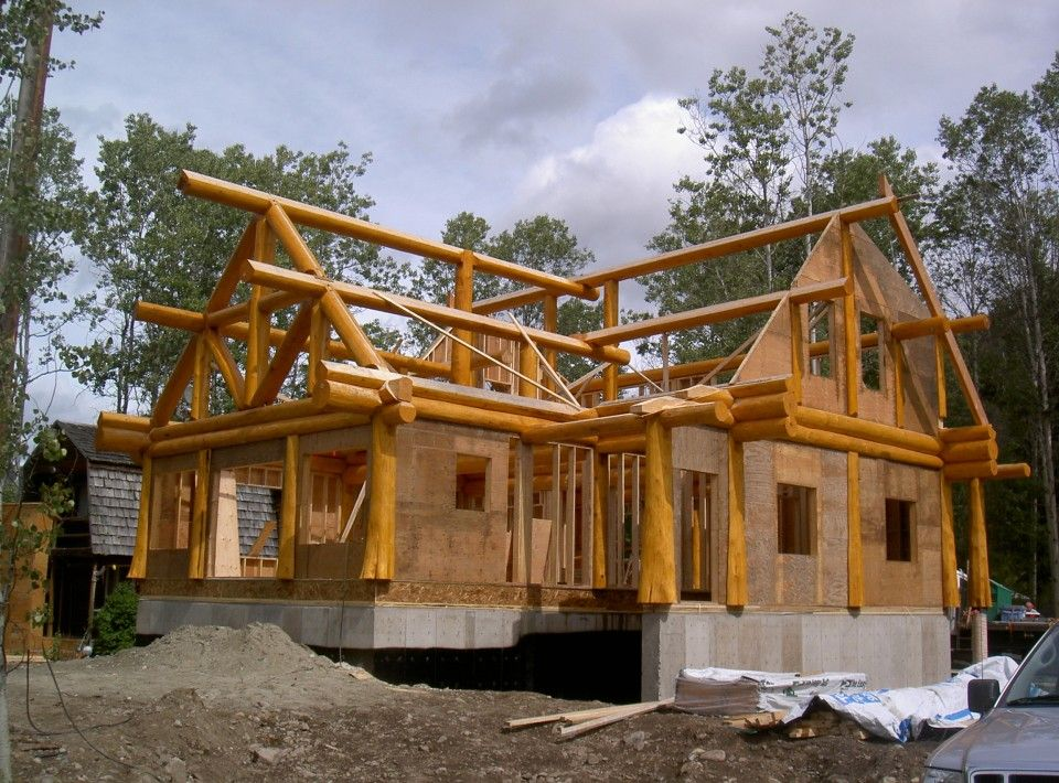 charming post beam house #1: For Wood Lovers: Log, Timberframe and Post-and-Beam Houses