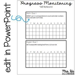 Progress Monitoring Made Quick and Easy (Mrs D's Corner