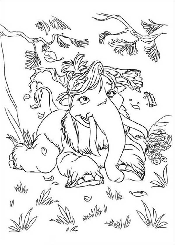 Mannie And Ellie Daughter Peaches From Ice Age Coloring Pages Bulk Color Coloring Pictures Animal Coloring Pages Coloring Pages
