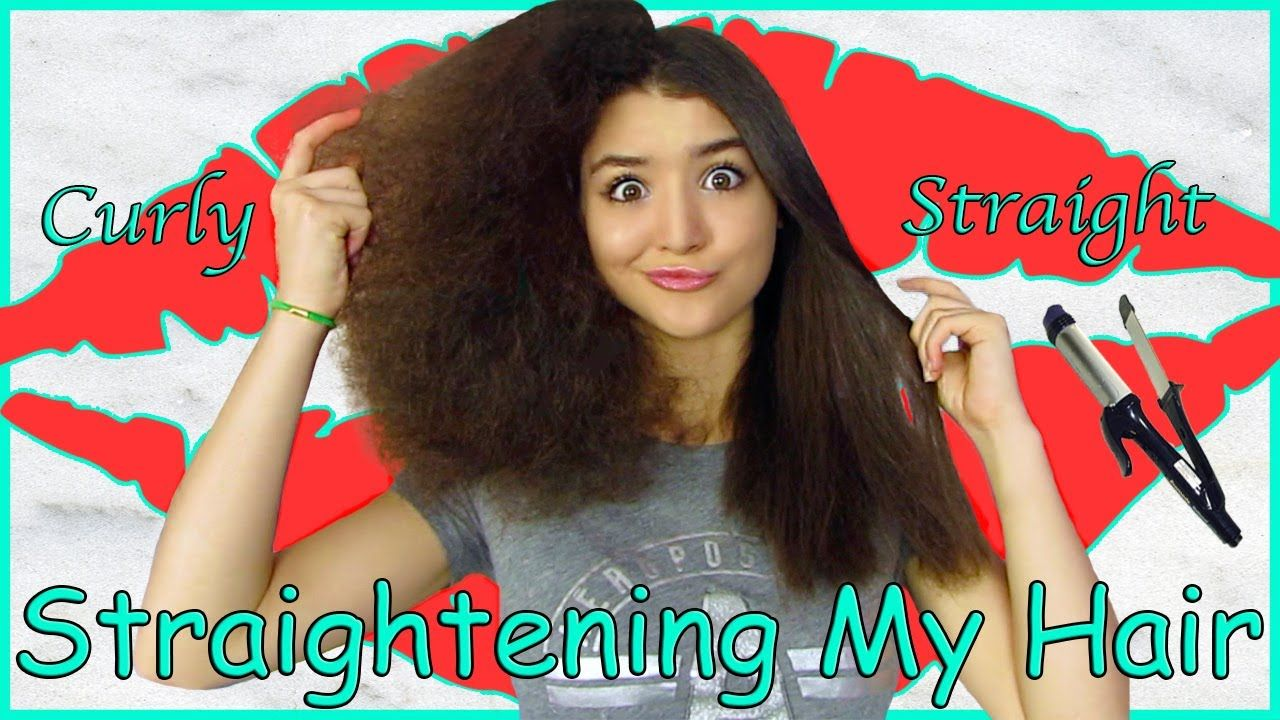 How To Straighten Curly Hair | Vivian King