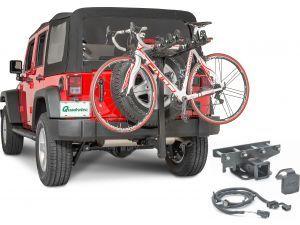 Quadratec 4 Bike Folding Bike Rack 2 Receiver Hitch Kit Bike