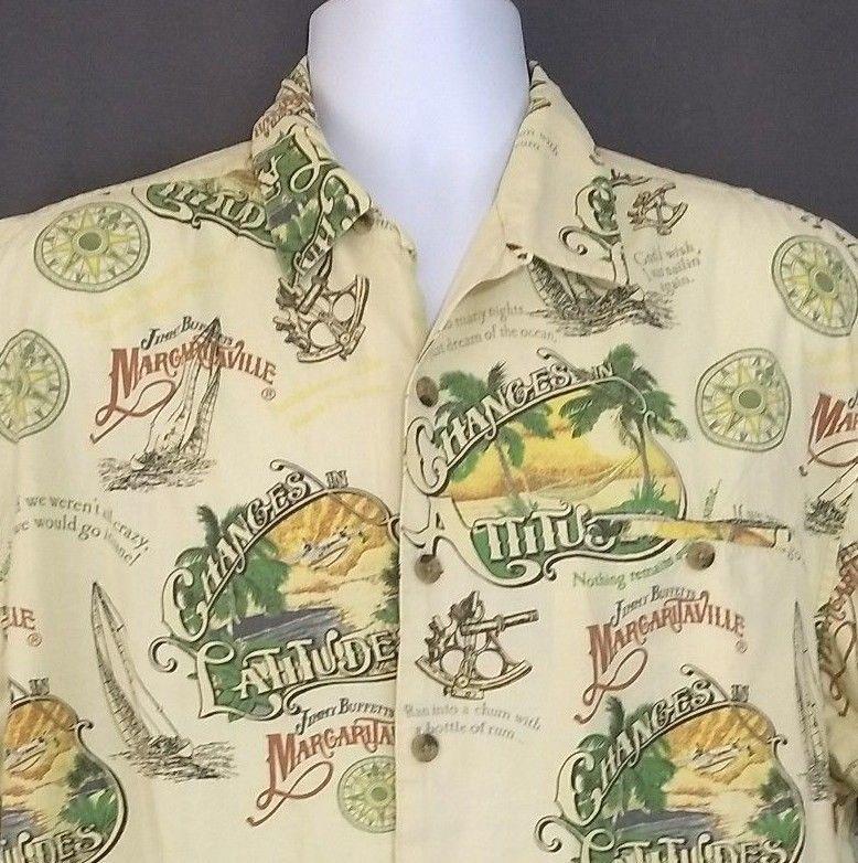 9c67abeb Jimmy Buffet Margaritaville Hawaiian Shirt Large Changes in ...