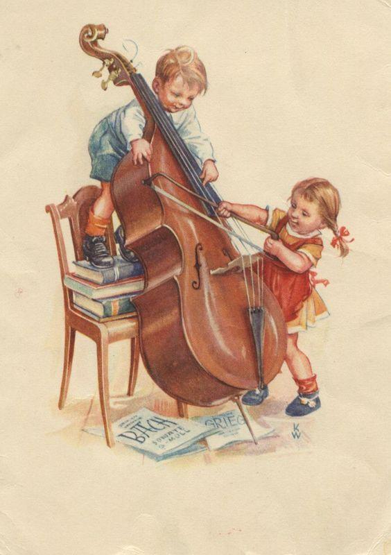 Дети музыкальные открытки