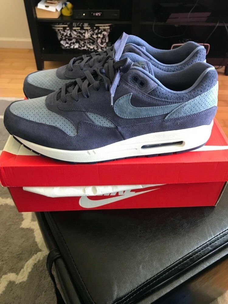 Nike Air Max 1 Premium Neutral IndigoDiffused Blue size 13
