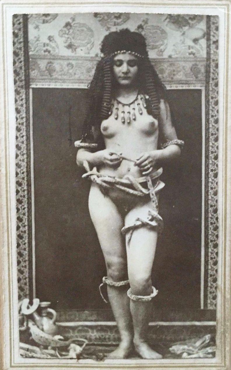 Very rare risqu carte de visite photo of a nude woman wrapped in very rare risqu carte de visite photo of a nude woman wrapped in snakes egyptian kristyandbryce Images