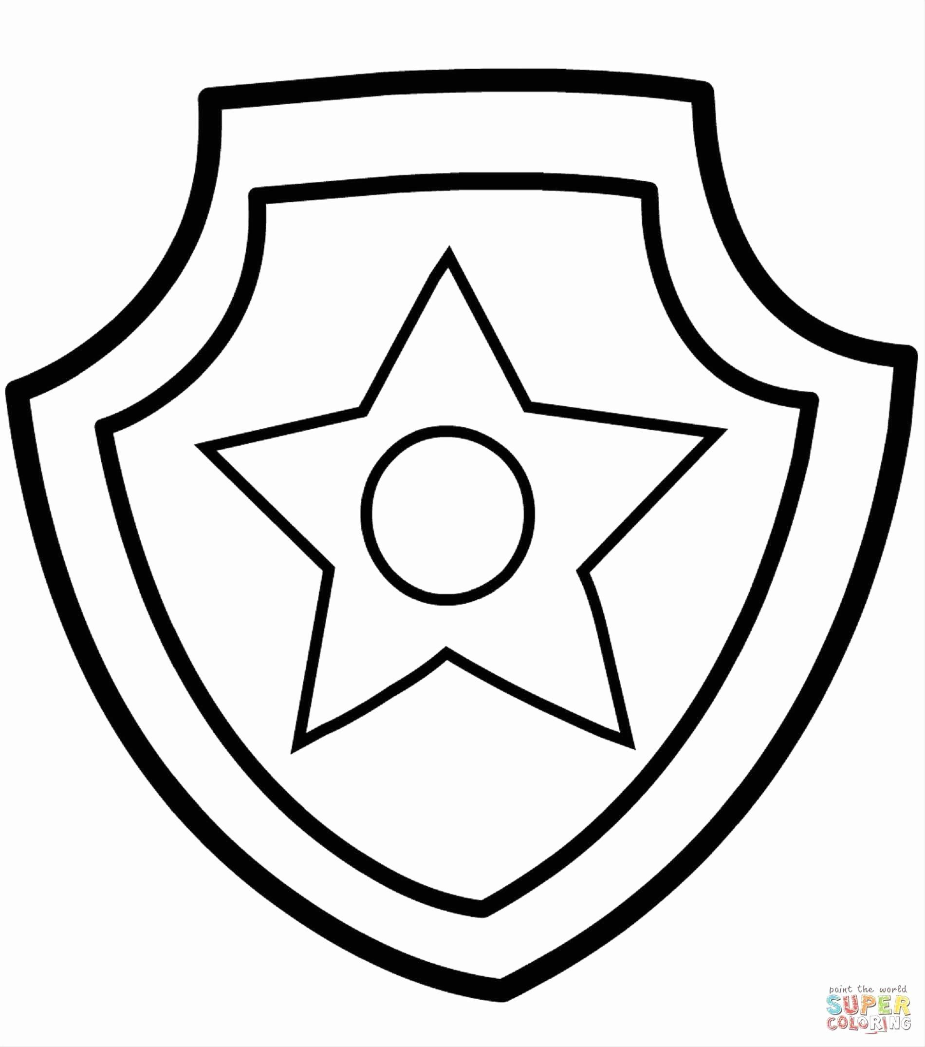 Police Badge Coloring Page Awesome Paw Patrol Badge Template