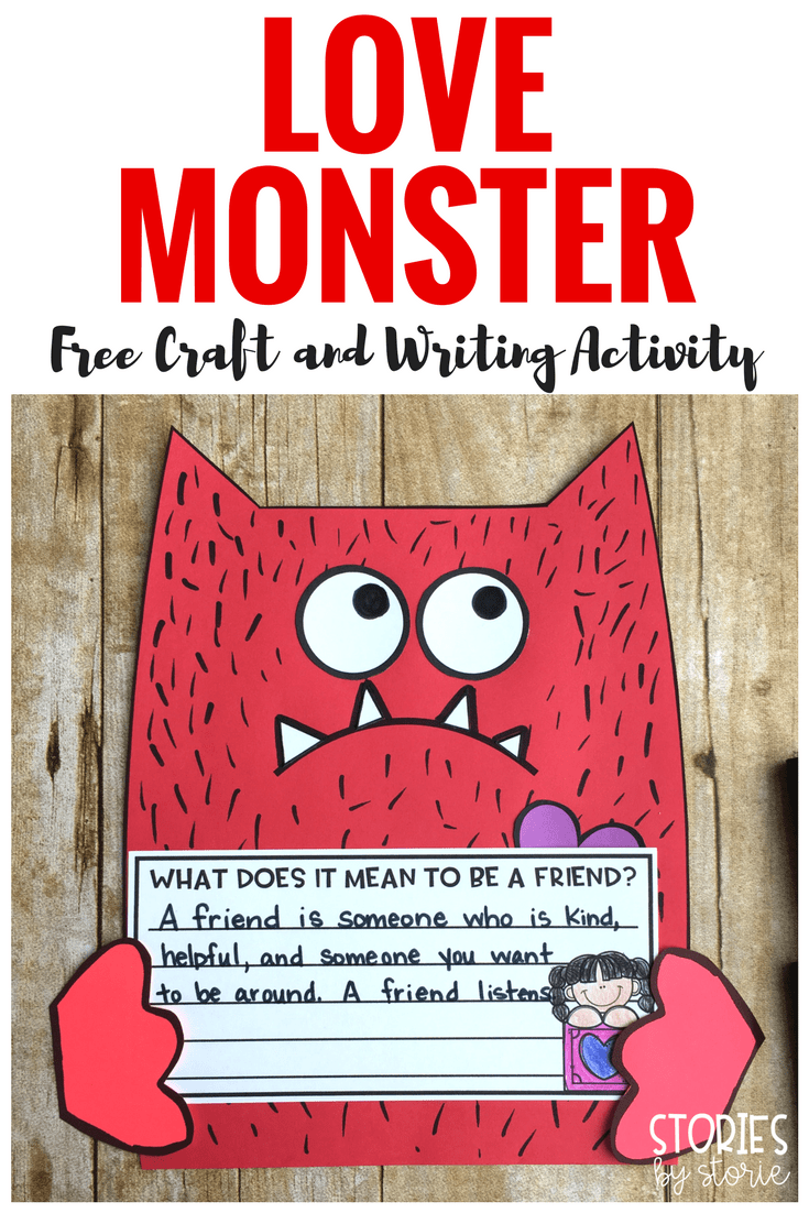 After Reading Love Monster By Rachel Bright Students Can Create Their Own Love Monsters With