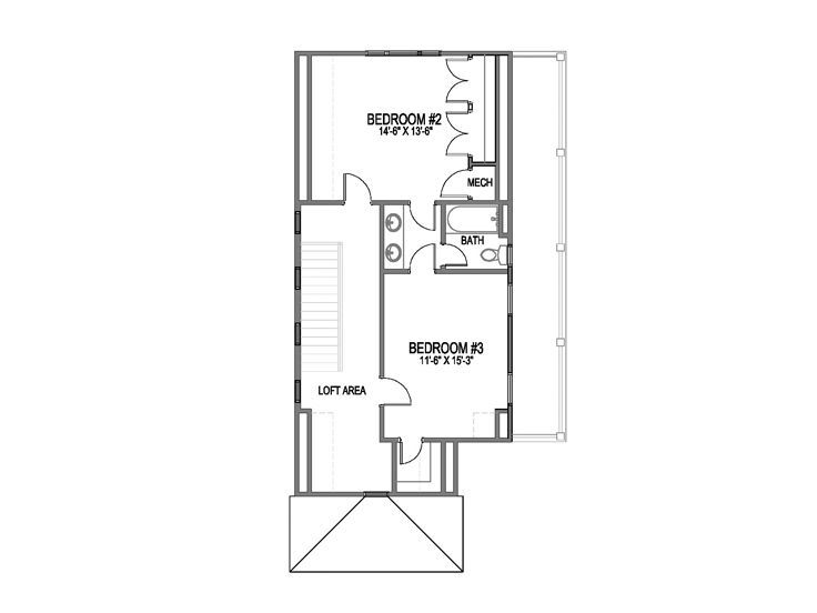 3rd Floor Plan Home Ideas Pinterest Narrow lot house plans