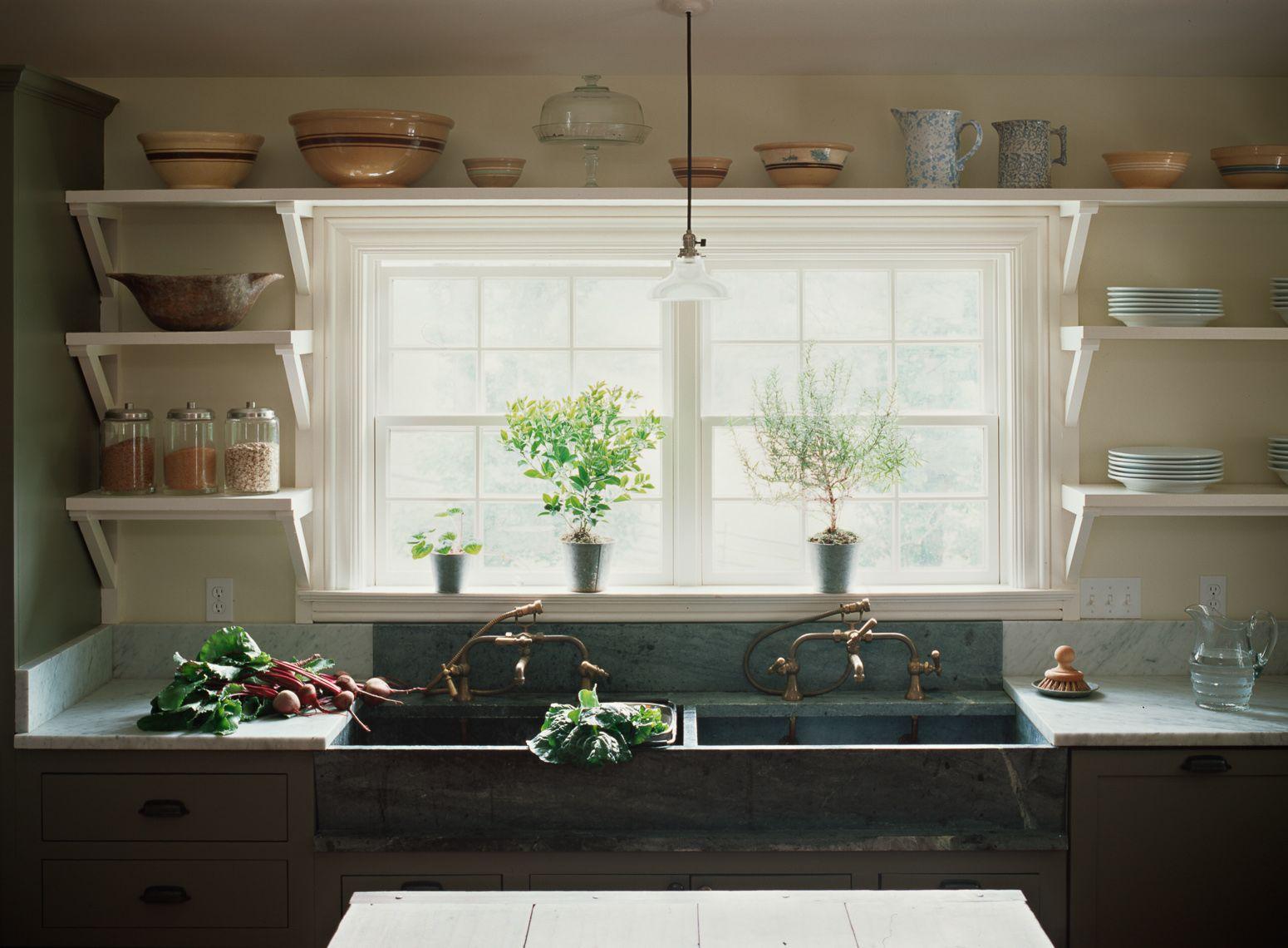 Kitchen sink window decor  kitchen  side by side sinks  design  inspiration  pinterest