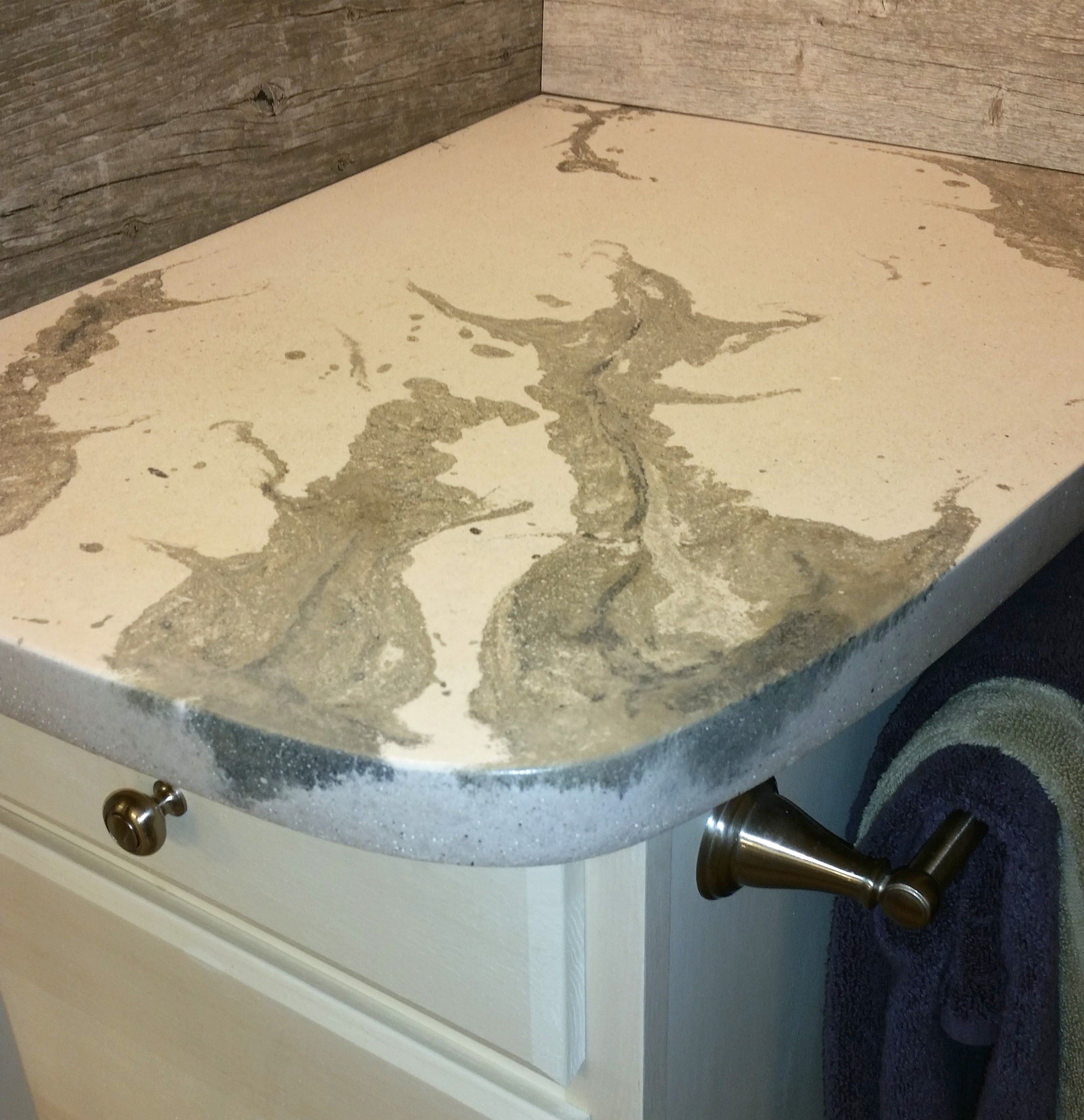 Job Of The Week Bathroom Countertops Done By Hovertrowel Inc