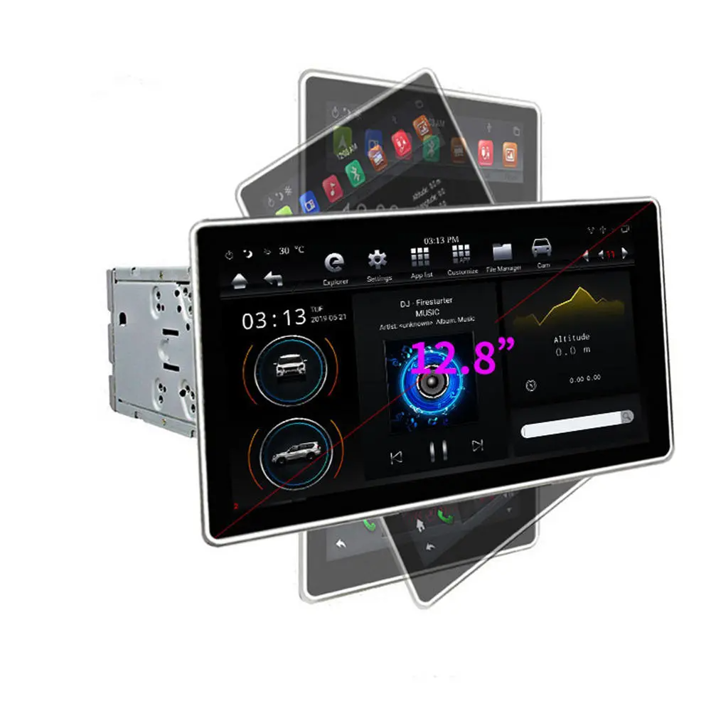 PX6 12.8 Inch for Android 8.1 Car Stereo Radio 180 Degree
