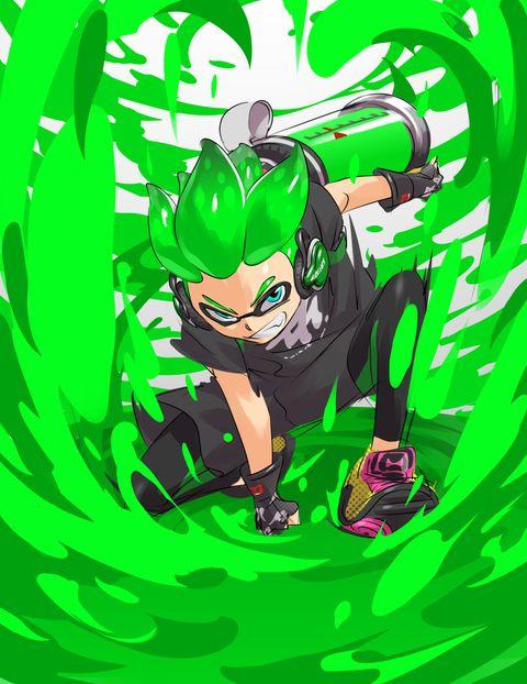グリーンがかわいいスプラトゥーンの壁紙