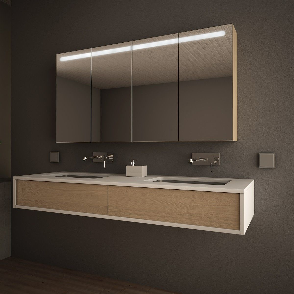 Spiegelschrank Mit Holz Korpus Riga Jetzt Bestellen Unter Https Moebel Ladendirekt De Bad Badmoeb Badezimmer Spiegelschrank Spiegelschrank Badspiegelschrank