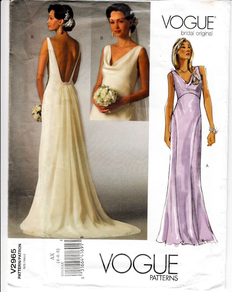Vogue formal dress patterns image collections dresses design ideas wedding gown bridesmaid dress detachable train vogue sewing wedding gown bridesmaid dress detachable train vogue sewing ombrellifo Images