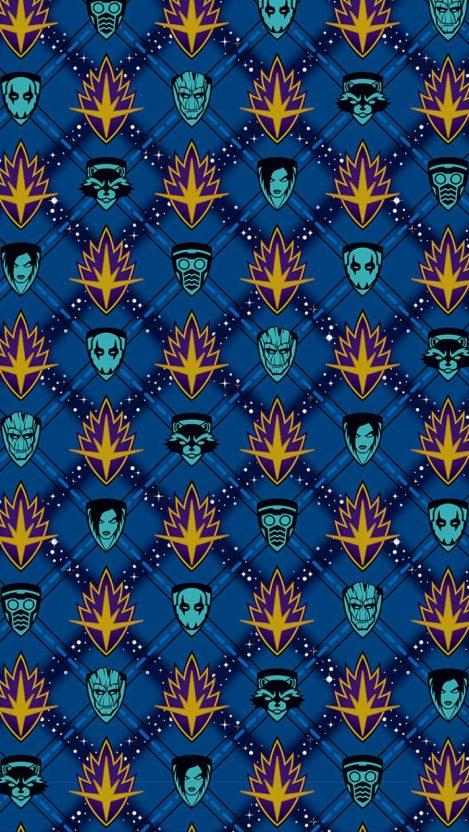 Guardians Of The Galaxy Pattern Iphone Wallpaper Getintopik Iphone Wallpaper Cute Tumblr Wallpaper Galaxy Pattern