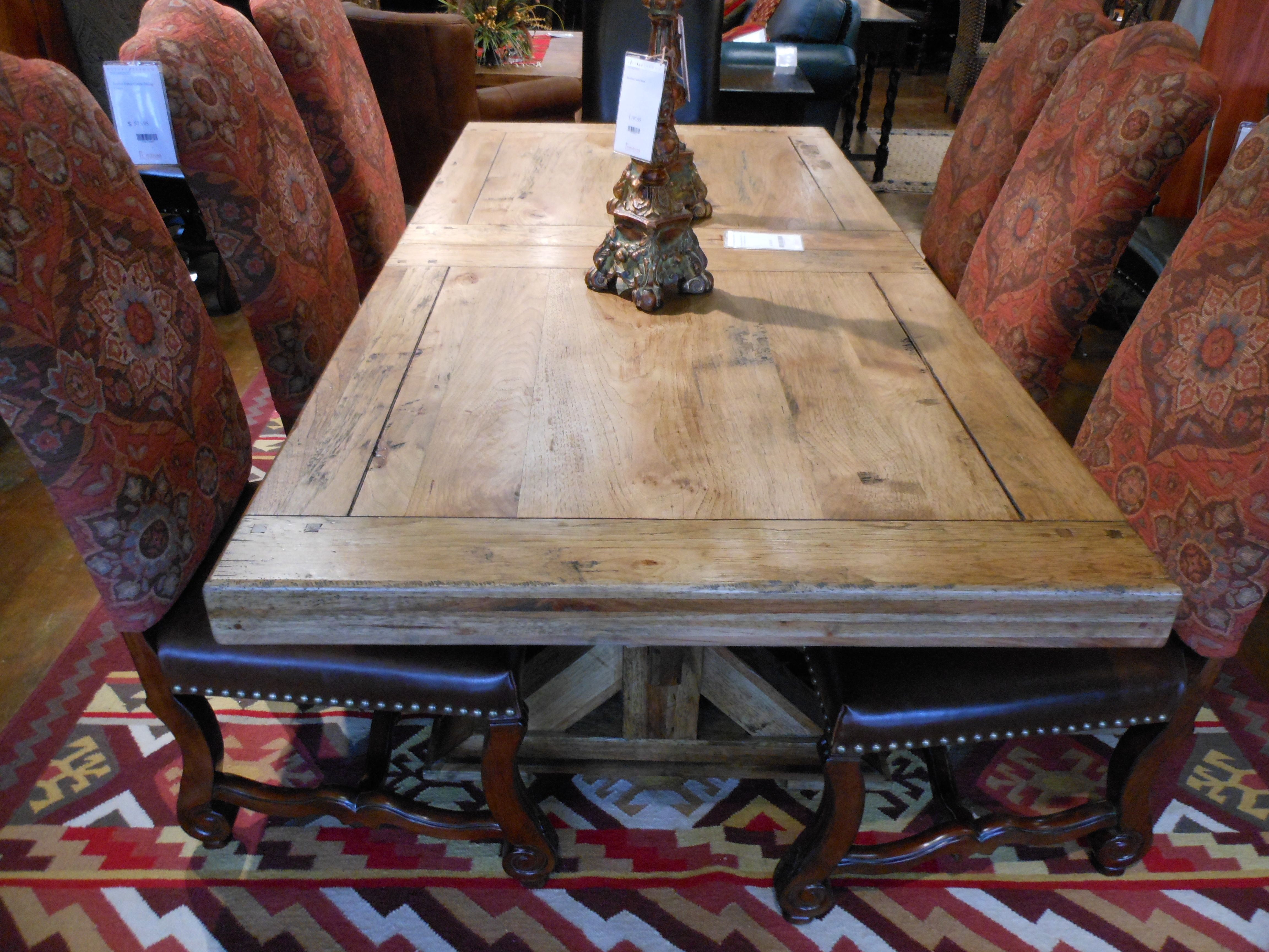 Solid Pecan Dining Room Table