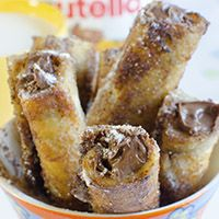 Nutella French Toast Roll Ups - OMG Chocolate Desserts