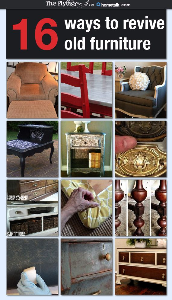 16 Ways To Revive Old Furniture Idea Box By Cori From The Flying C