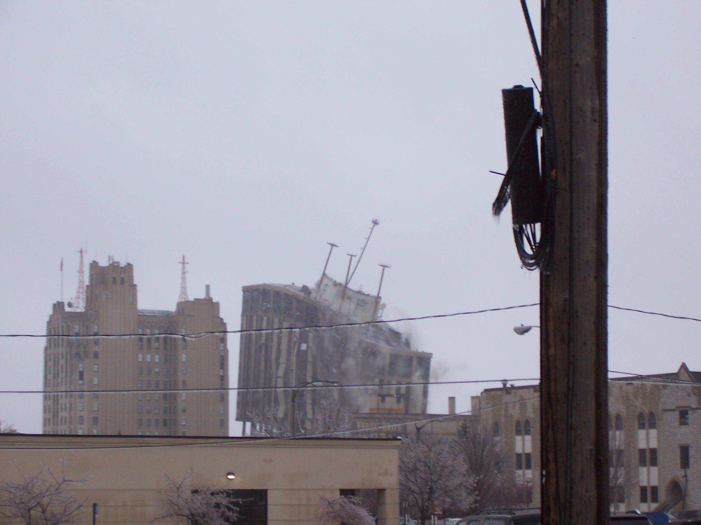 THE TOWER FALLING IN FLINT, MI