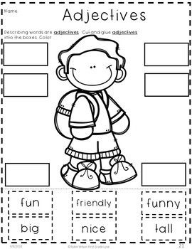 Adjectives Worksheets and Activities First Grade (With