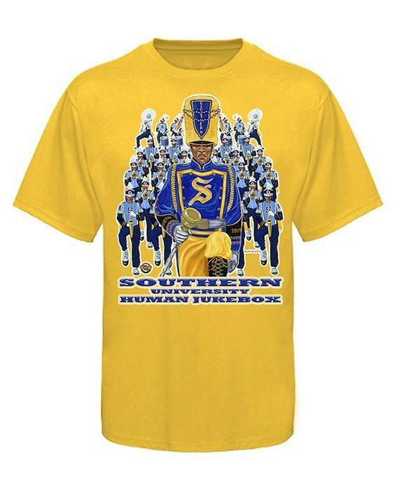 81c13ce6f919 2014 Bayou Classic Southern University Marching Band T- Shirt in Gold   BayouClassic2020  Whowillbreakthetie