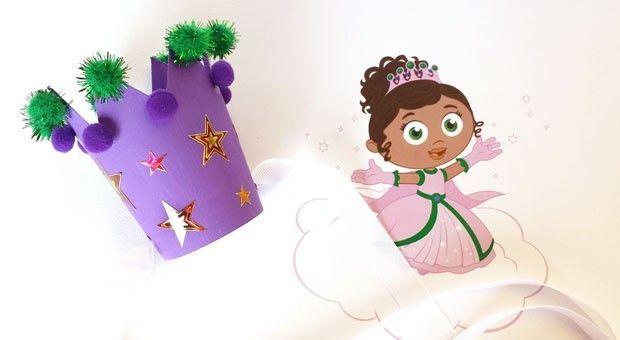 Transform a paper cup into Princess Presto's crown!