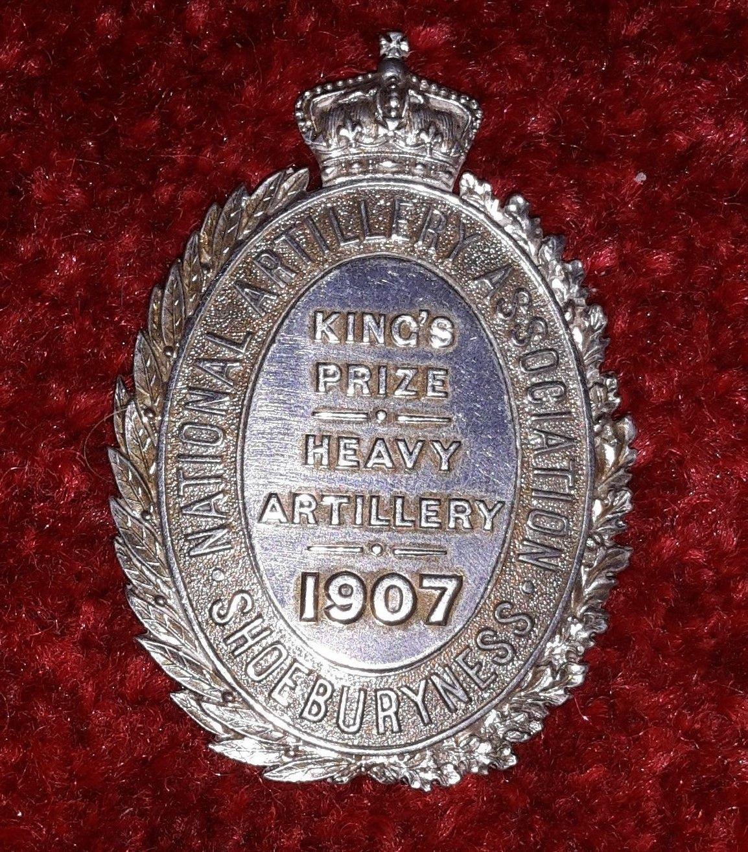 National Association Shoeburyness King's prize Heavy Artillery 1907