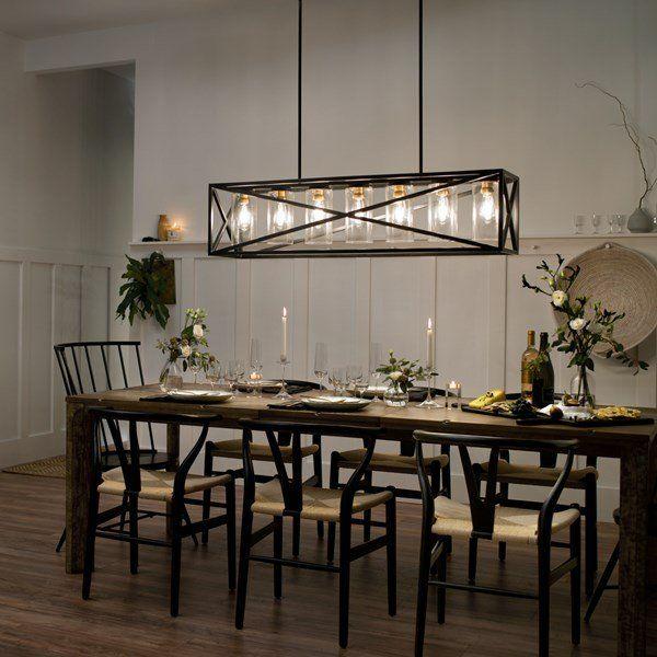 Moorgate™ 7 Light Linear Chandelier Black