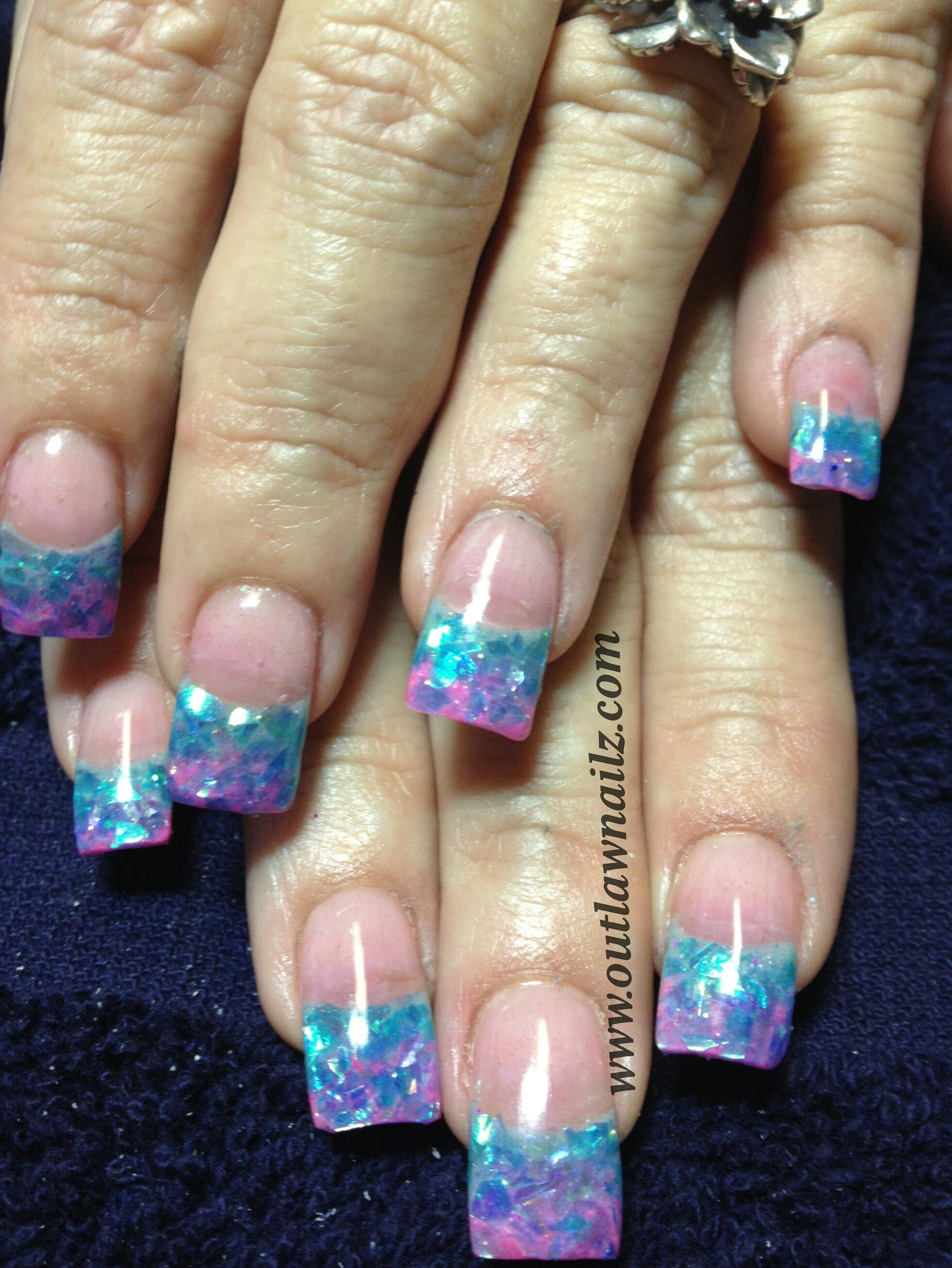 Love The Colors But The Length Needs To Be Shortened Sparkly Nails Mylar Nails Bella Nails