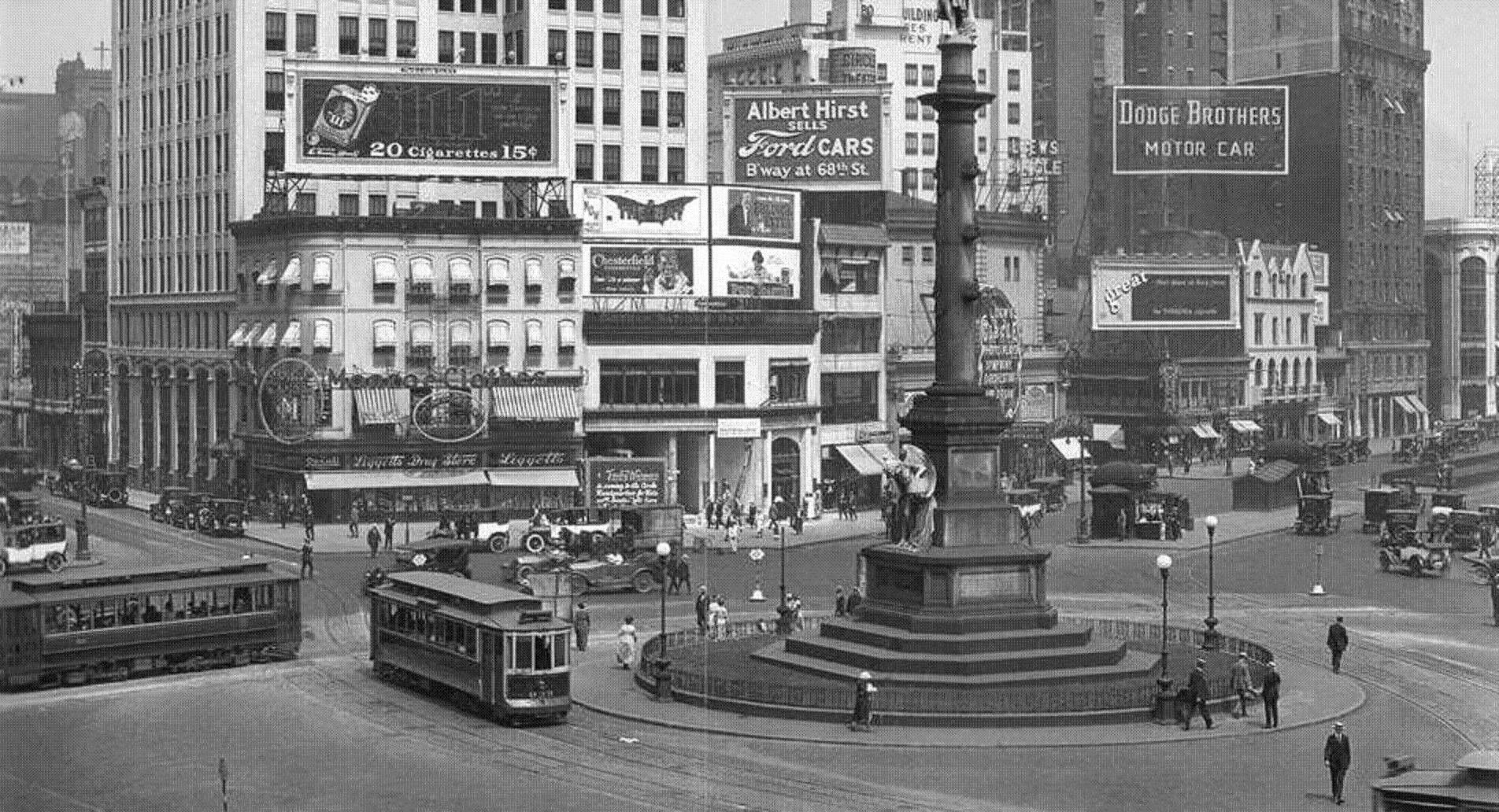 Columbus Circle 1920 S Old Nyc Columbus Circle