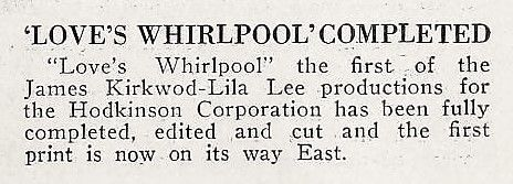 1924: Lila Lee - Exhibitor's Trade Review (Feb 9, 1924)