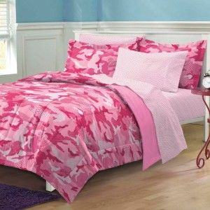 Pink Camouflage Bedroom Decor | Cozy Bedroom Bedding Ideas ...