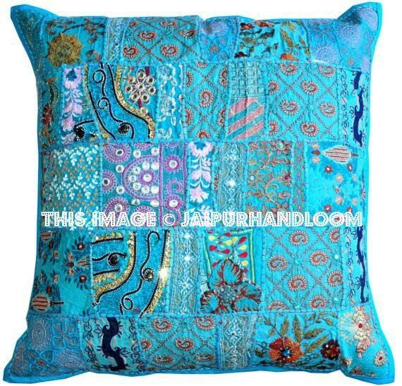Superb 24X24 Hand Stitched Yoga Pillows Indian Style Ethnic Forskolin Free Trial Chair Design Images Forskolin Free Trialorg