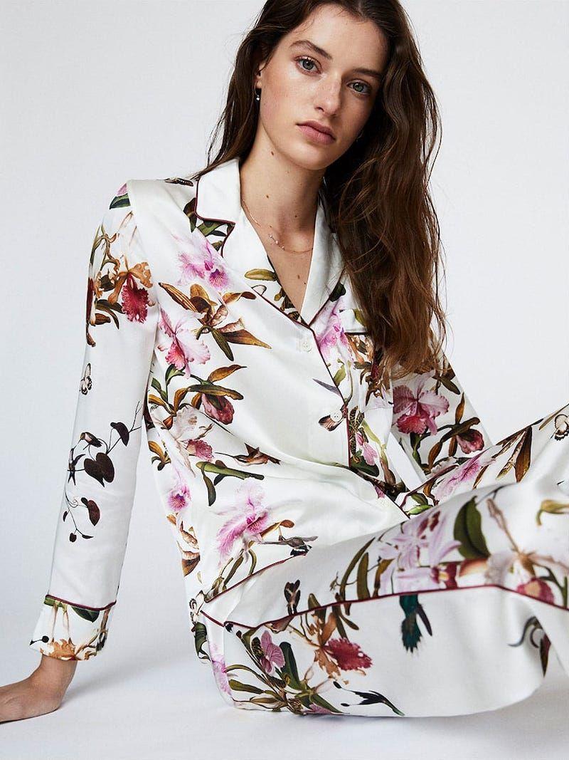 1a423270bc MORPHO + LUNA Colette Floral-Print Silk Pajamas