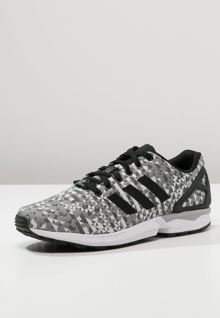 adidas Originals ZX FLUX WEAVE - Sneakers laag - white/core black/solid grey
