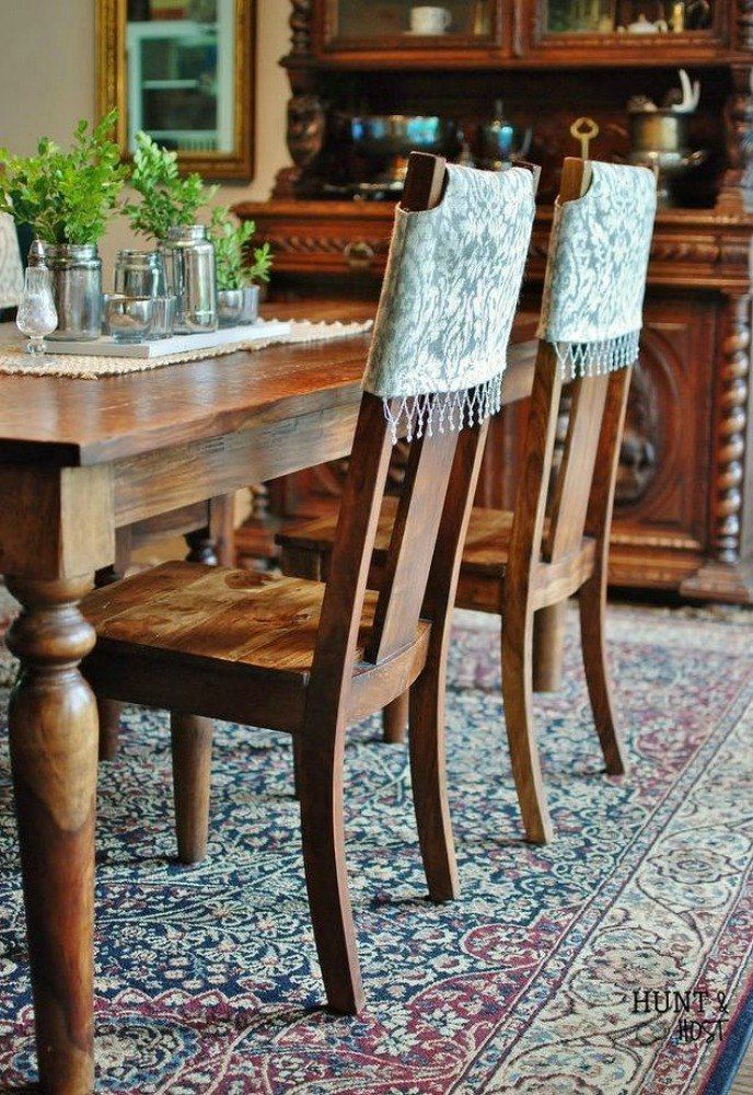 12 Ways To Revamp Your Dining Room Chairs Before The Holidays Dining Room Chairs Dining Room Chair Covers Dining Chairs Diy
