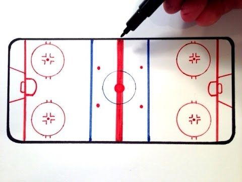 How To Draw An Ice Hockey Rink Youtube Ice Hockey Rink Hockey Outfits Hockey Drawing