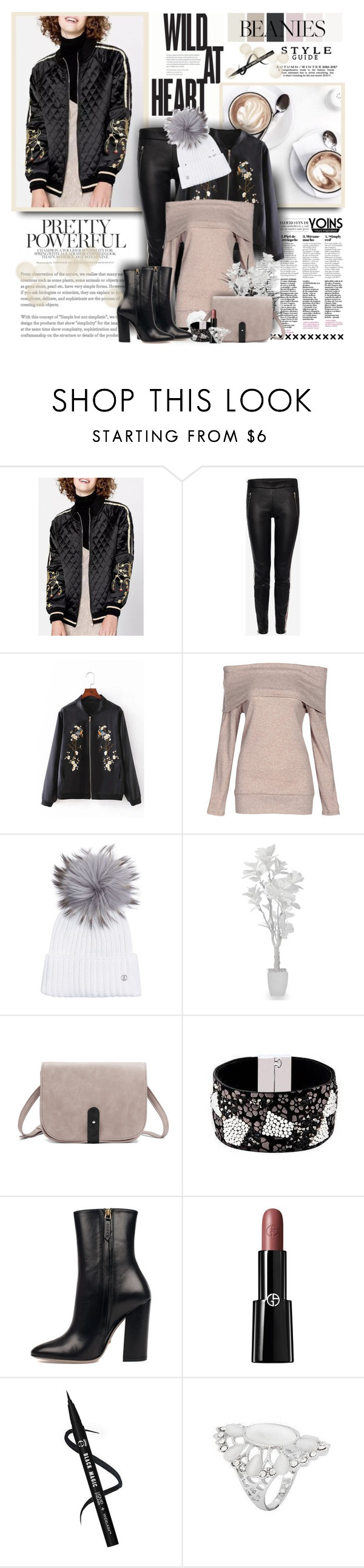 """""""Pretty Yoins 282"""" by sneky ❤ liked on Polyvore featuring Alexander McQueen, Bogner, Gucci, Giorgio Armani and pompombeanies"""