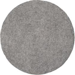 Photo of Handmade flat weave carpet Carl in gray myfeltmyfelt
