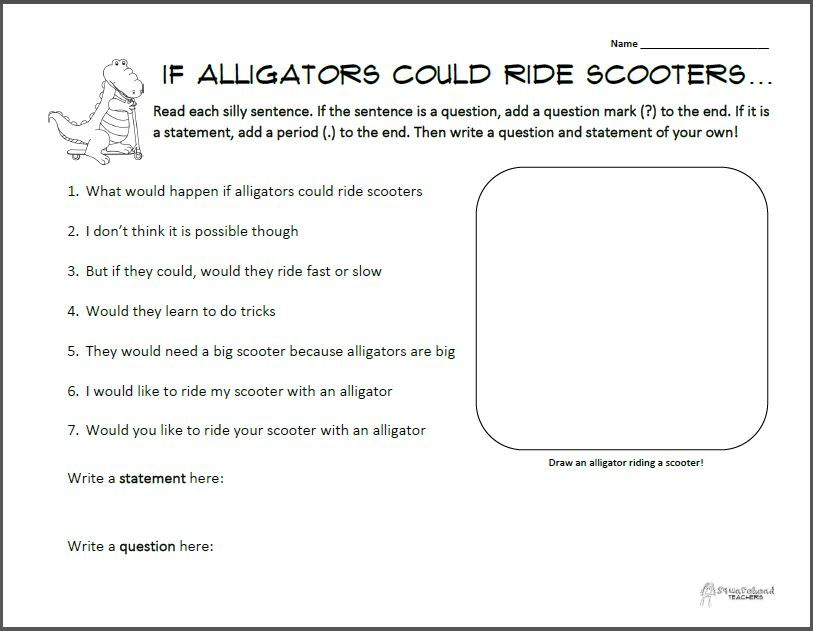 Statements And Questions Alligators On Scooters This Or That Questions Scientific Notation Word Problems Word Problem Worksheets