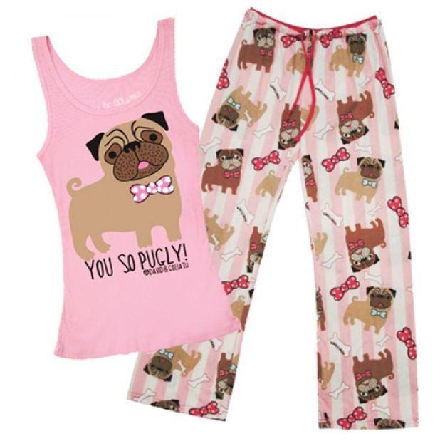You So Pugly Pajama Set From David Goliath Pajama Set