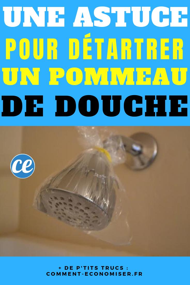 Avec Le Vinaigre Blanc C Est Facile De Detartrer Le Pommeau De Douche Pommeau De Douche Pommeau Astuce Menage