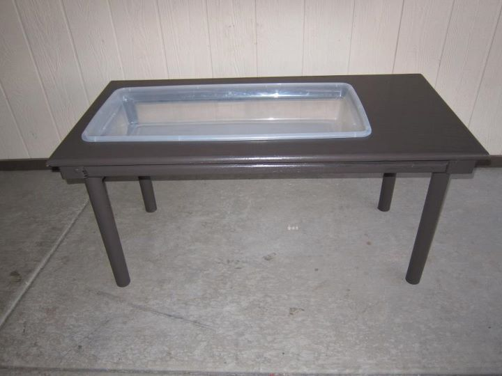 Brilliant Diy Sensory Table From Thrifted Table And Rubbermaid Bin Download Free Architecture Designs Scobabritishbridgeorg