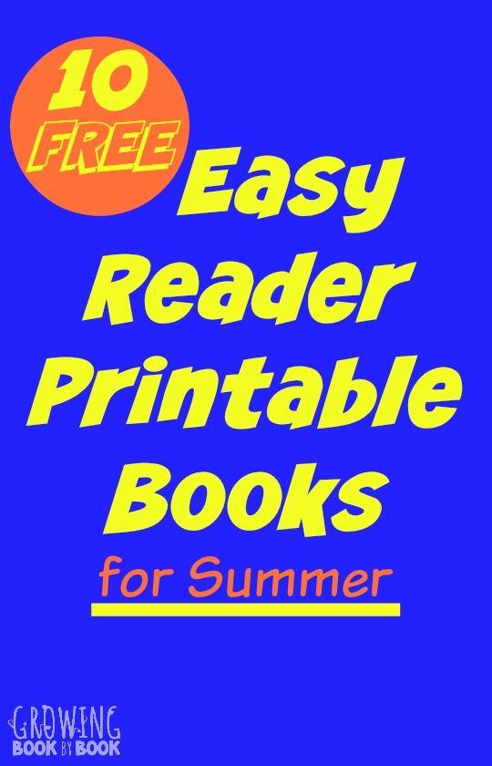 Summer Easy Reader Printable Books for Kids Easy reader Books and