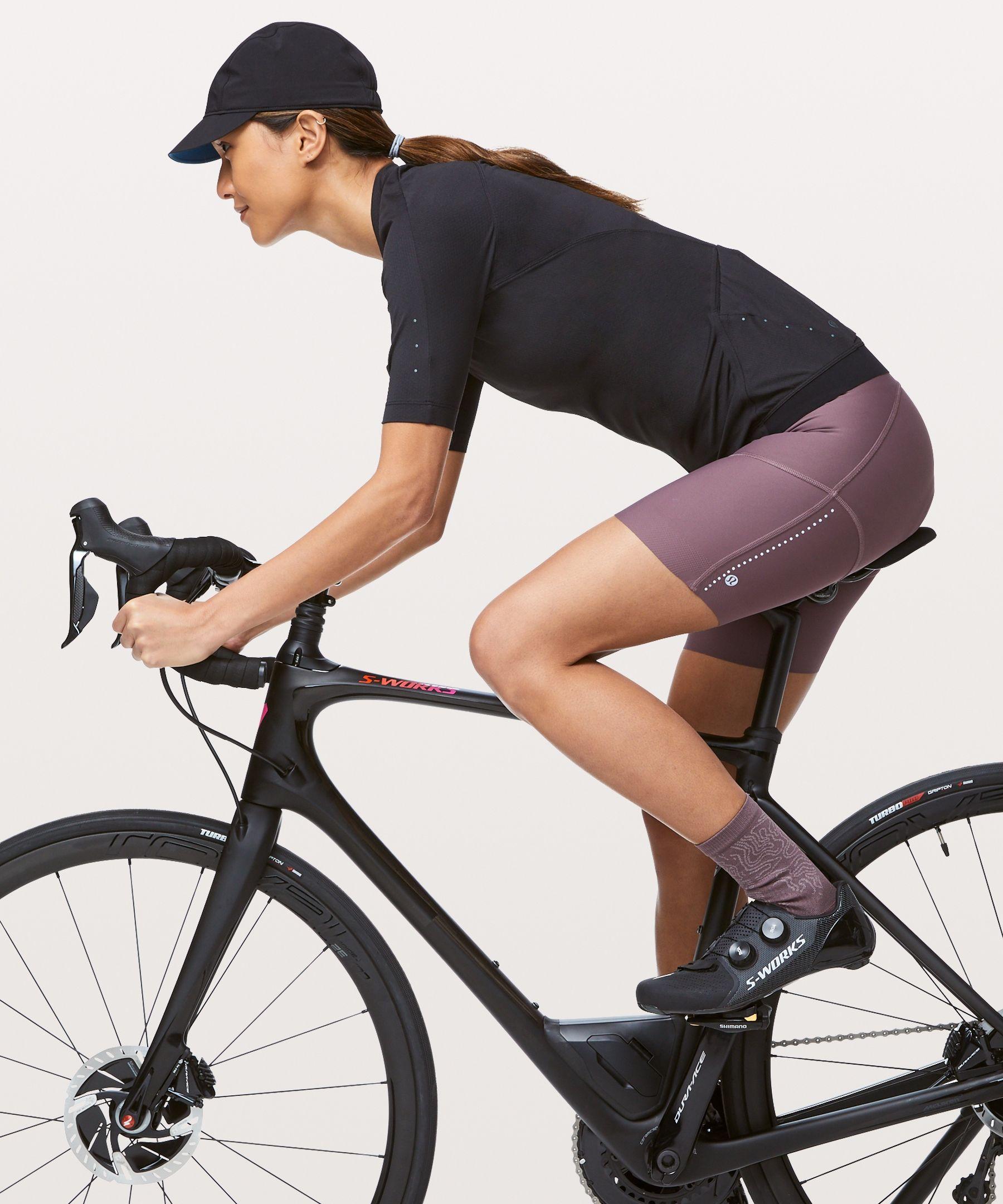 Lululemon Women S City To Summit Light Cycling Short Antique Bark Size L Cycling Shorts Women Cycling Short Indoor Cycling Class