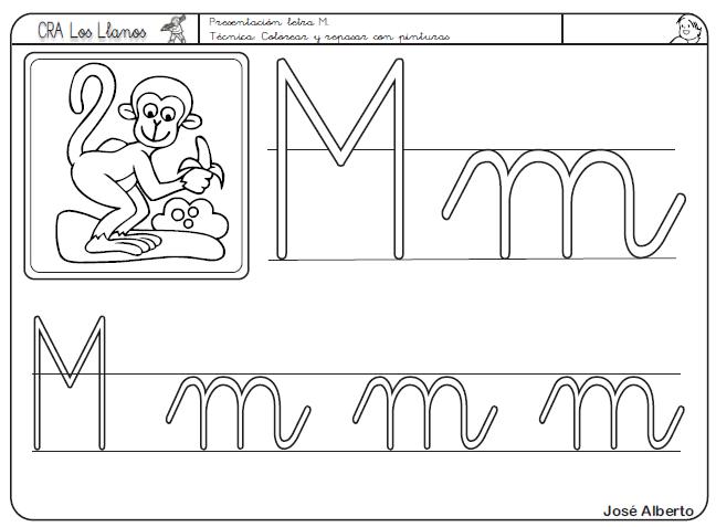 La letra m minuscula para colorear - Imagui | letras | Pinterest ...
