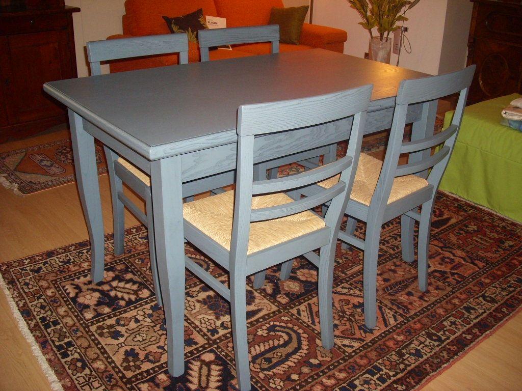 Tavolo e 4 sedie Laguna sconto 60 euro 725 Tavoli